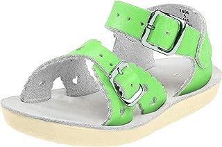 Salt Water Sandals Girls 2016 Sun-san - Sweetheart Green Size: 12 M US Little Kid