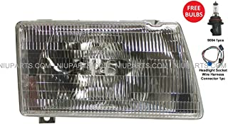 Headlight with Adjusters & Mounting Frame Metal - Passenger Side (Fit: Peterbilt 377 385 & 375 Truck)