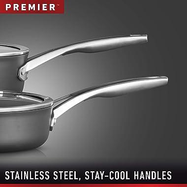 Calphalon Premier Hard-Anodized Nonstick Cookware, 13-Inch Flat Bottom Wok