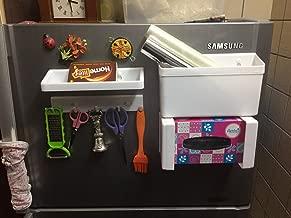 Decorika Magnetic Plastic Refrigerator Shelf (White, Set of 5)