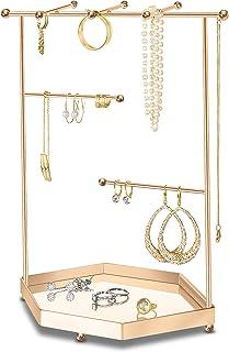 LeniLena Porte Bijoux, Arbre à Bijoux de Luxe, Organisateur Présentoir Colliers, Boucles d'Oreilles, Bracelets, Accessoire...