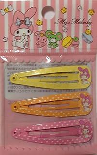 9117964a7 Sanrio My Melody Hair 3-pin Accessories Barrette Yellow Orange Pink 3pcs Set