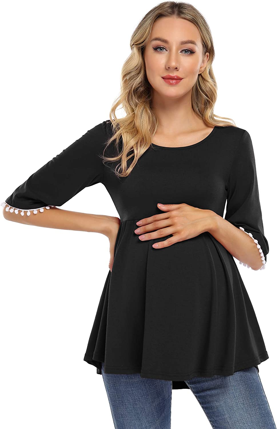 Coolmee Maternity Tops Womens Casual Maternity Tunic Tops Nursing Tee Shirt Casual Clothes