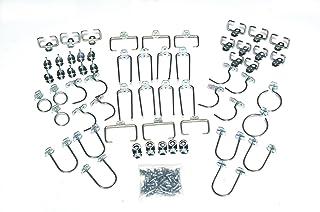 Locking Pegboard Hooks Triton Products 5060 60 Pc Locking Pegboard Hook Assortment, , Silver