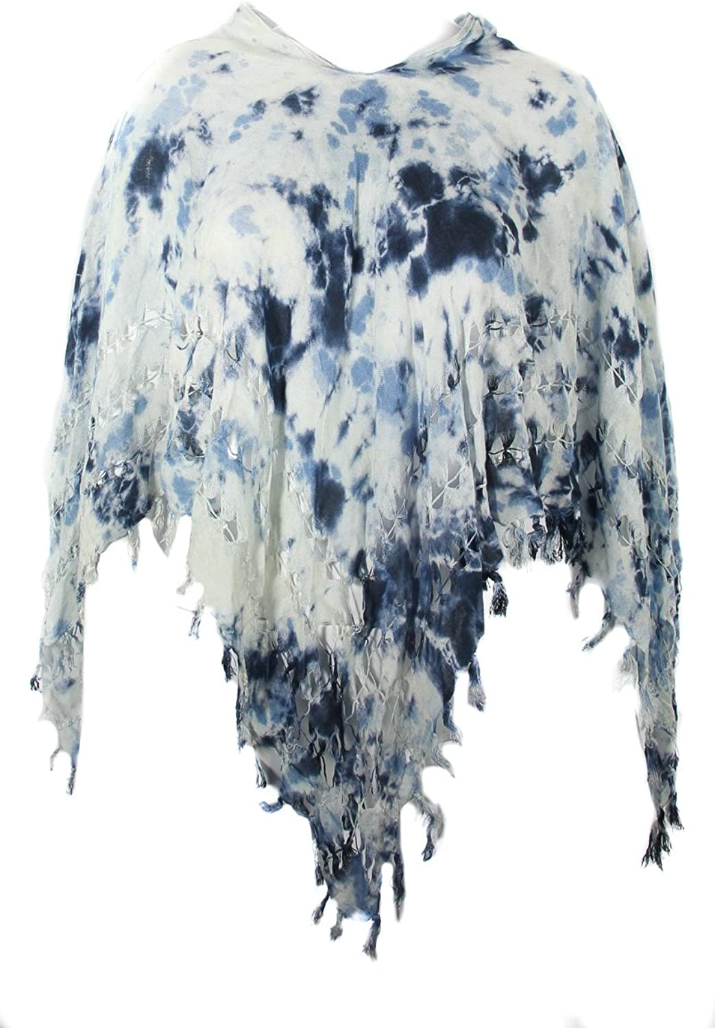BCBGeneration All in the Details Tie Dye Cape Dark Wave OSFA
