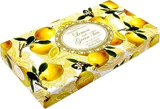 Saponificio Artigianale Fiorentino Soap Made in Italy - Lemon and Green Tea, Three 4.4 oz bars