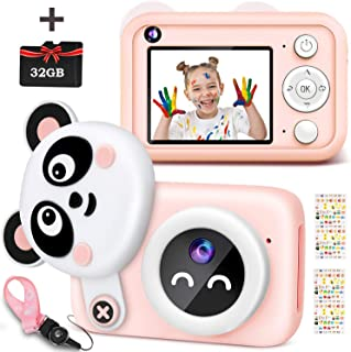 Kids Digital Camera, 1080P HD Selfie Dual Video Cameras for Toddler, Best Birthday Gifts for Girl, Portable Toy for 4~13 Y...
