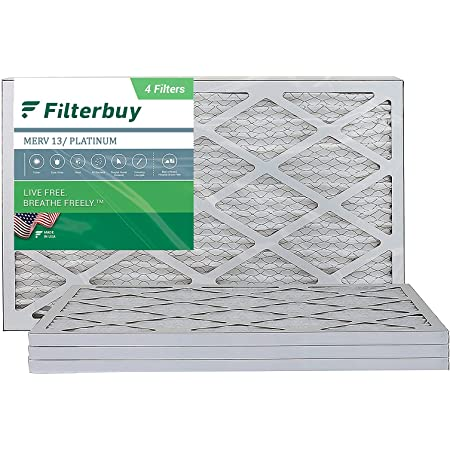 6 Pack 12x24x1 MERV 13 Pleated AC Furnace Air Filters
