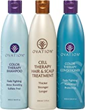 Ovation Color Protection Cell Therapy System - Get Stronger, Fuller & Healthier Looking Hair with Natural Ingredients - Includes Cell Therapy Treatment and Color Treatment Shampoo & Conditioner