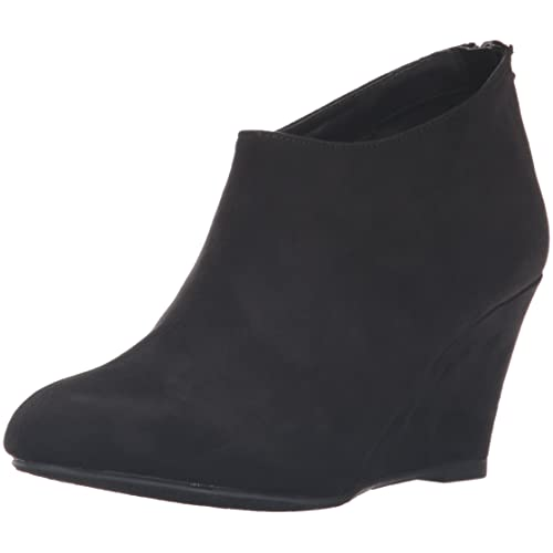 limited guantity lowest price super cheap Black Suede Wedge Bootie: Amazon.com