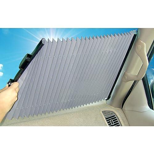 Dash Designs 19 inch Universal Fit Retractable Auto Windshield Sunshade b03eca5d06d