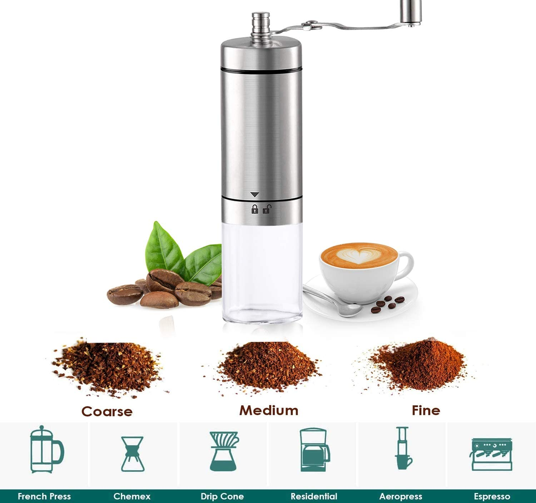 Hand Crank Grinder Grinder for Espresso French Press Turkish Brew ...