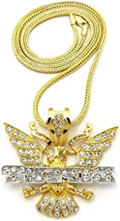 """XP130GT NEW ICED OUT DIPSET PENDANT /& 30/"""" BOX//FRANCO CHAIN HIP HOP NECKLACE"""