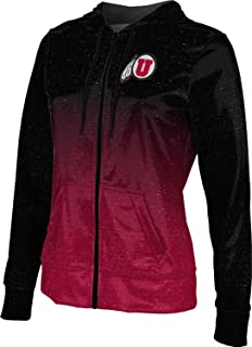 ProSphere University of Utah Girls' Zipper Hoodie, School Spirit Sweatshirt (Ombre)