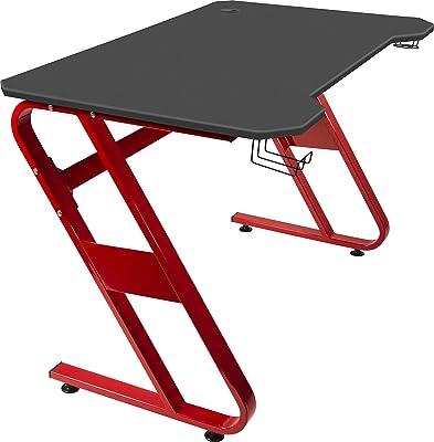 Speedlink SCARIT Gaming Desk Scrivania da Ufficio, Black-Red, Nero-Rosso, 1140 × 680 × 750mm