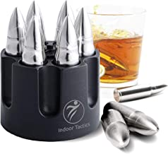 "WHISKEY BULLET STONES WITH BASE - XL, 2.5"" Extra Large Bullet-Shaped Ice Cube Reusable for Whisky, Bourbon 