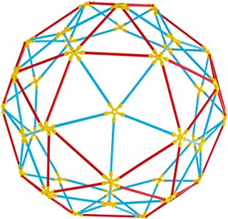 Hape Flexistix STEM Building Geodesic Structures, Featuring 177 Multi-Colored Bamboo Pieces