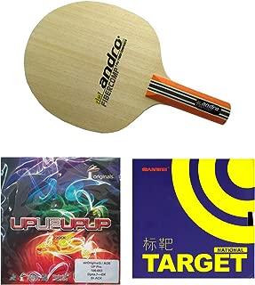 Andro Fibercomb Defensive +Sanwei Target National(Blue sponge) + Air upupup pro Table tennis Racket
