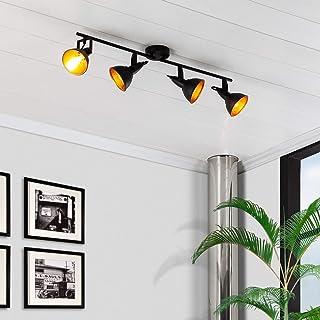 LEDKIA LIGHTING Lámpara de Techo Orientable Emer 4 Focos Negro Negro
