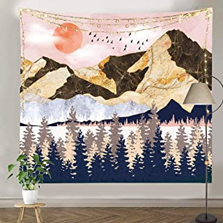 Pinata Mountain Tapestry for Bedroom, Forest Tapestry Wall Hanging, Large Sunset and Nature Landscape Tapestry for Wall Room Decor (59.1 X 82.7)