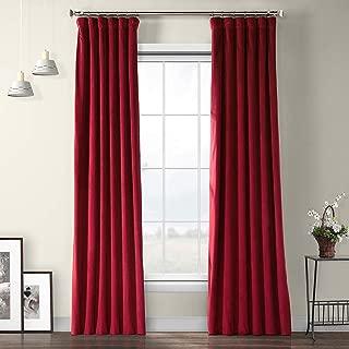 VPYC-179758-96 Heritage Plush Velvet Curtain, 50 x 96, Cinema Red