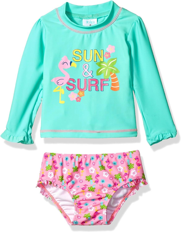 Popular products KIKO MAX Girls' Swimsuit Set with Sleeve Long Rashguard Swim Popularity S