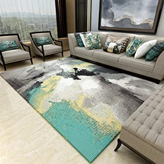Area Rugs Pile Shag Rug Contemporary Living & Bedroom Soft Shaggy Area Rug Carpet, Living Room Rug Bedroom Simple Coffee T...