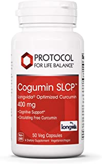 Protocol For Life Balance - Cogumin SLCP Longvida Optimized Curcumin 400 mg - Cognitive Support, Brain Health, Optimum Pai...