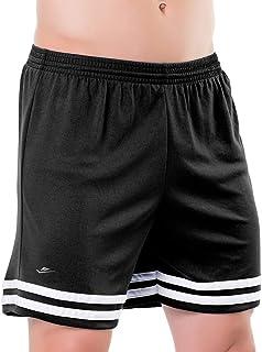 Short masculino plus size com listas na barra e sunga (cueca) interna tamanhos grandes