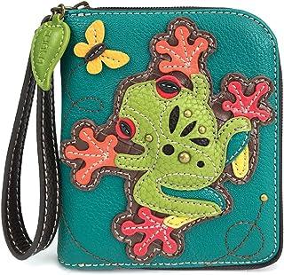 CHALA Zip Around Wallet, Wristlet, 8 Credit Card Slots, Sturdy Pu Leather