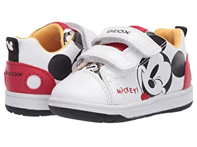 Geox Kids New Flick 15 Mickey Mouse (Toddler) (White/Red) Boy
