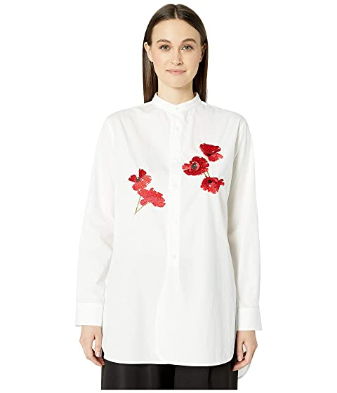 Y's by Yohji Yamamoto O-CLR Band Double Buttons Blouse