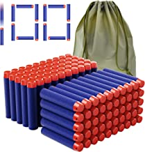 Coodoo Compatible Darts 100 PCS Refill Pack Bullets for Nerf N-Strike Elite Series Blasters Toy Gun - Blue with Storage Bag
