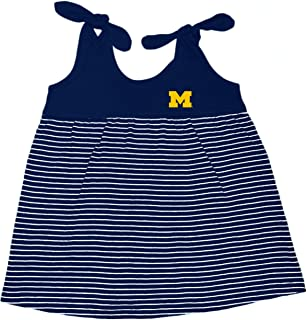 cfcace6029a Michigan Wolverines NCAA College Toddler Striped Sundress