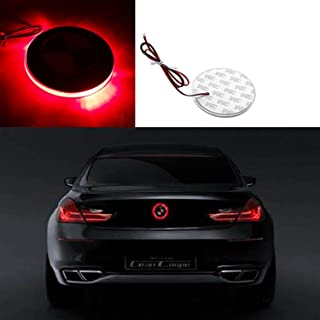 1x Brilliant Red 82mm Truck Hood Emblem LED Background Light lighting Kit For BMW 3 5 7 Series X3 X5 X6