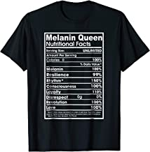 Melanin Shirt -Melanin Queen Nutrition Facts Shirt Women Men