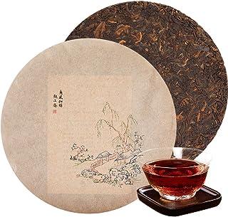 プーアル茶餅 2008年雲南普洱熟茶357g 中国茶 餅茶 茶葉 プーアル茶 黑茶 恵風和暢 高山茶 茶葉 健康茶無添加