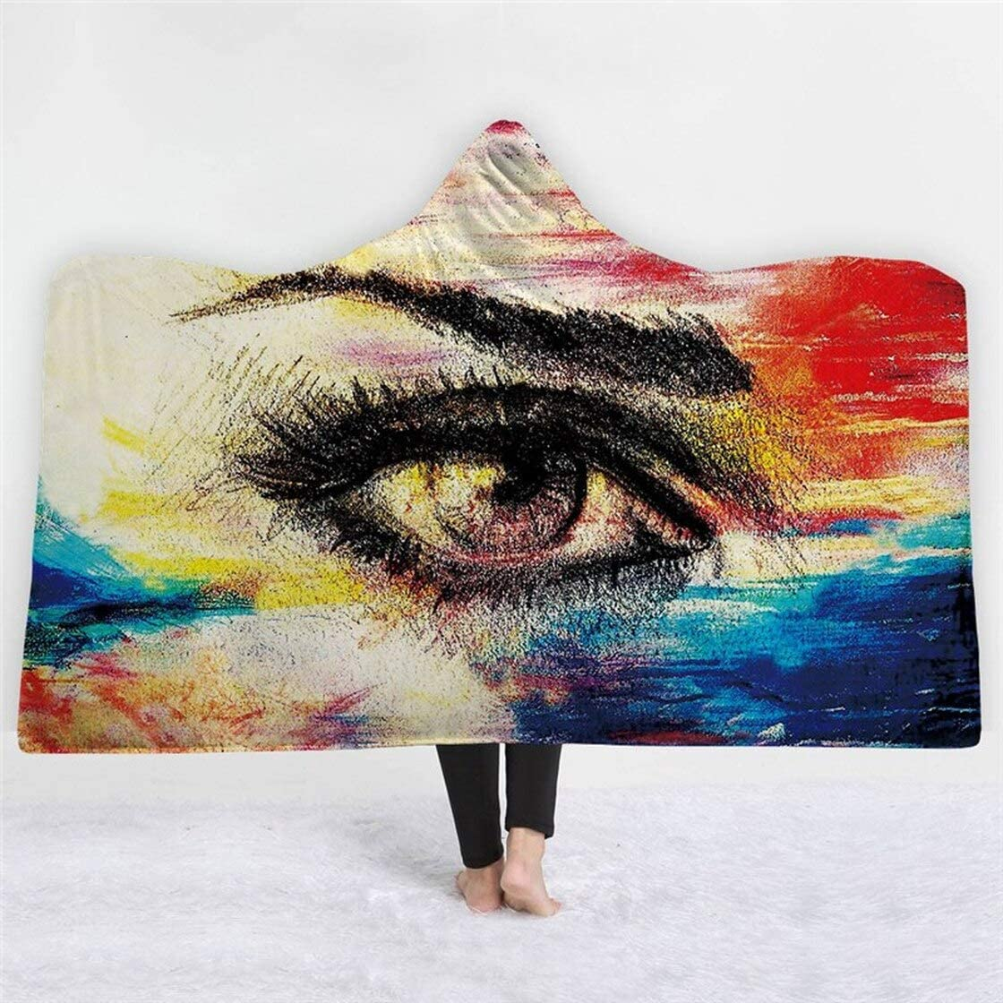 Sale price Personalized Anime Eye Pattern Printed Ranking TOP4 Hooded Indoor Out Blanket