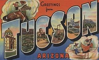 Tucson, Arizona - Large Letter Scenes (9x12 Art Print, Wall Decor Travel Poster)