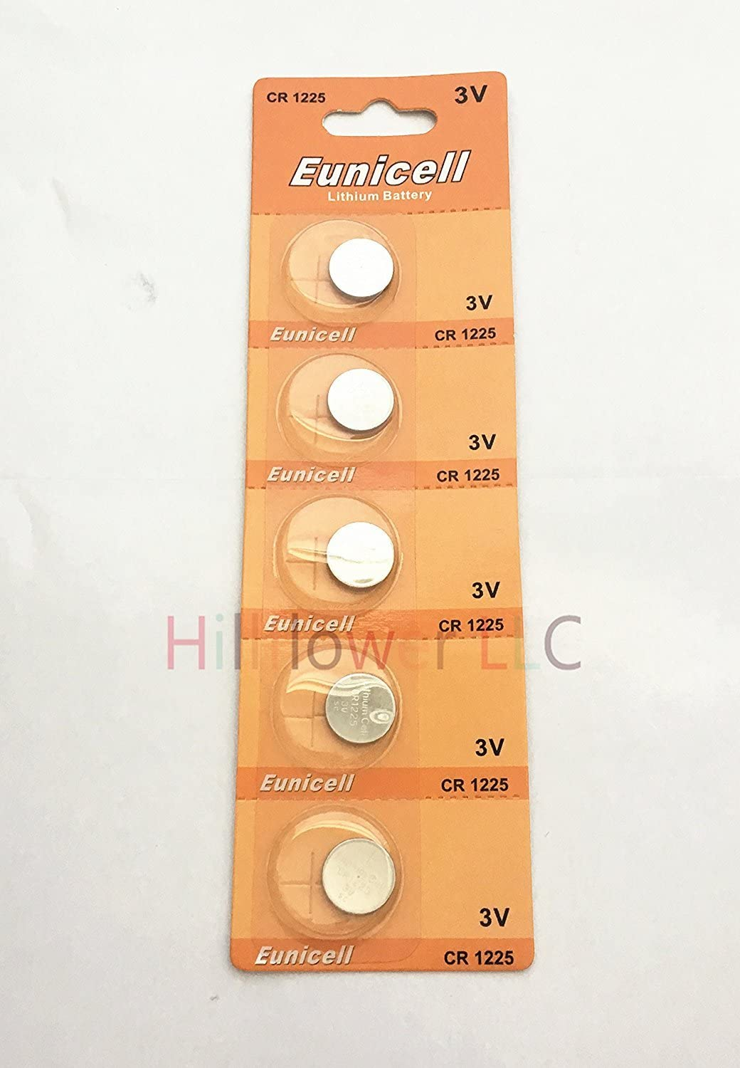 Hillflower 10 Piece CR1225 Card Blister 1225 Lithium 3V BR1225 lowest price B Department store
