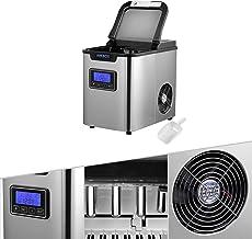 Arebos machine à glaçons en acier inoxydable | 2,2L | LCD Icemaker | 12KG/24H