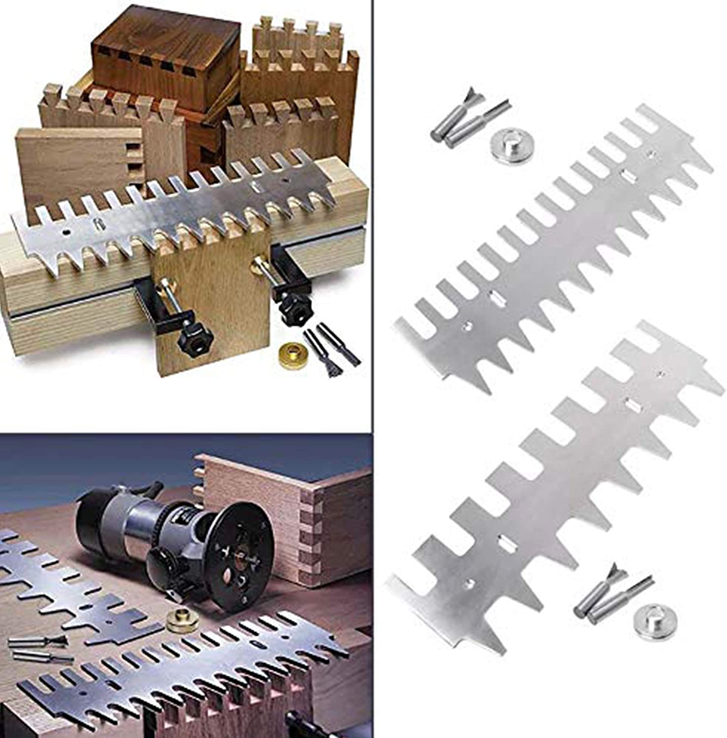 Huanyu Dovetail Template 1//4 Shank Bit 15//16 inch Guide Bushing Set Aluminum Alloy Drawers Accessories 15inch Template Kit