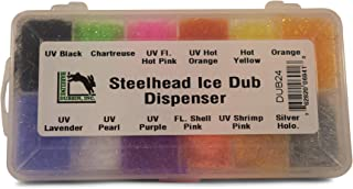 HARELINE/'S ICE DUB DISPENSER Fly Tying 12 colors sparkle dubbing