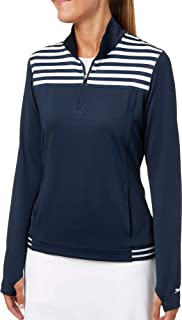 Womens Striped Golf 1/4-Zip