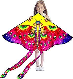 Hengda Kite So Beautiful Loving Heart Butterfly Kite Single Line Kite Incudes 30m String and Handle