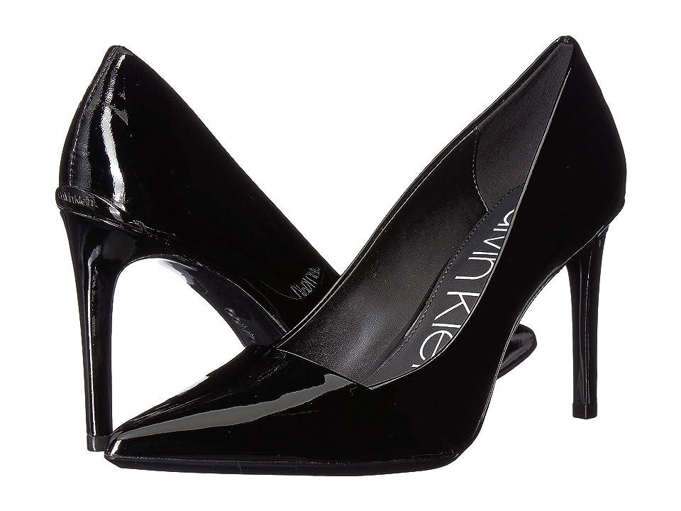 Calvin Klein Roslyn (Black/Black Patent Smooth/Patent) Women