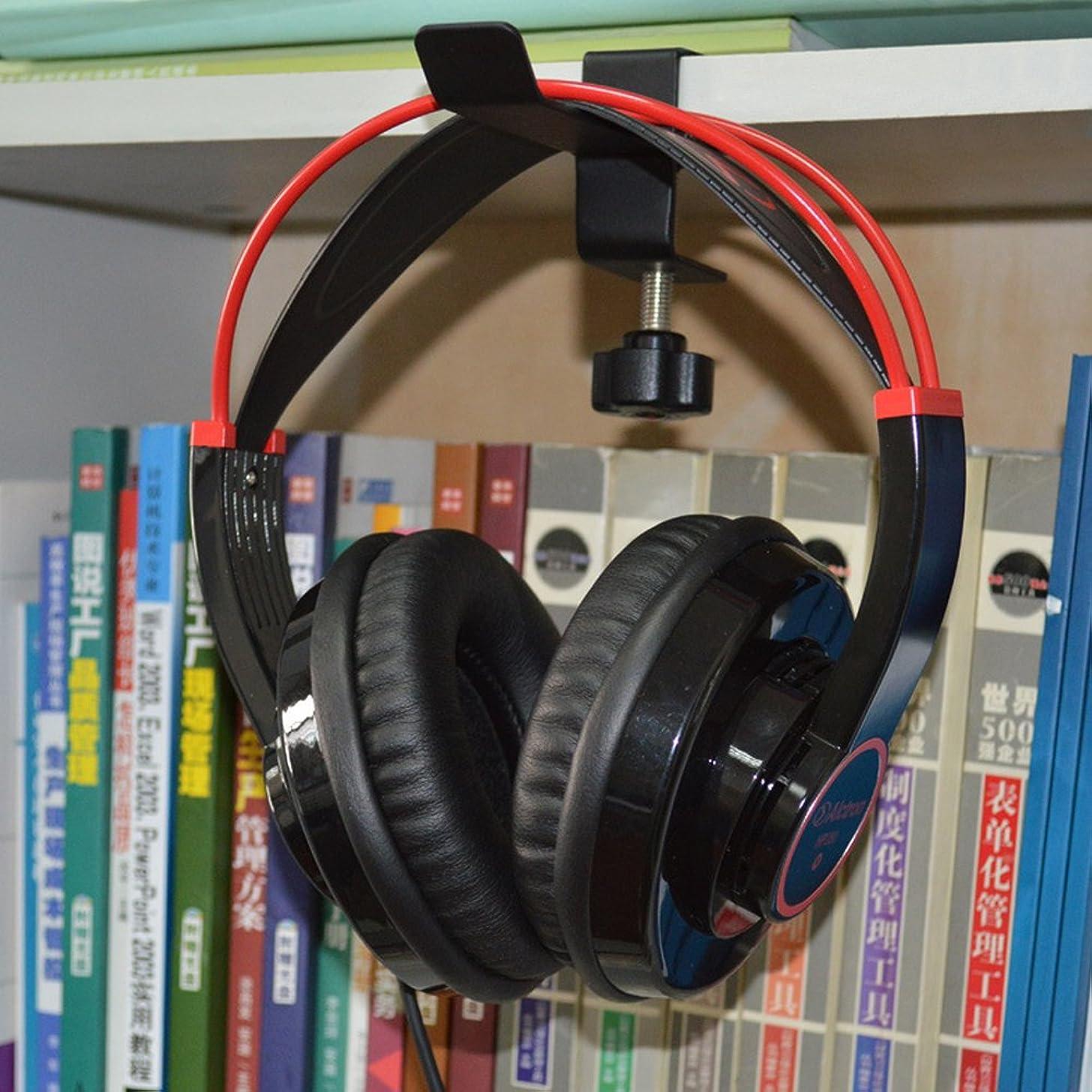 SuBoZhuLiuJ Headset Holder,Headphone Desktop Mount Holder Hanger Hook Headset Shelf Rack Earphones Stand - Black