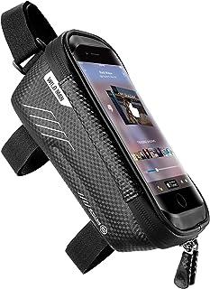 jixiejumo Bike Phone Front Frame Bag - Waterproof...