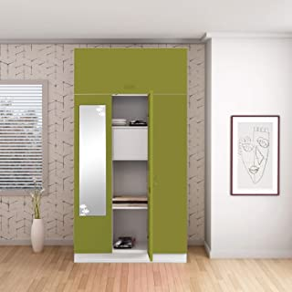 GODREJ INTERIO Slimline 3 Door M2 Steel Almirah Locker, OHU, Green Leaf