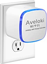 Upgraded 2019 Aveloki WiFi Range Extender 300Mbps Travel WiFi Repeater/Internet Signal Booster Amplifier with Ethernet Port for Travel WiFi Router/Home WiFi Signal Booster